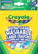 Crayola 8 große abwaschbare Wachsmalstifte