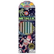 6 JUMBO Metallic Farbstifte, Roboter