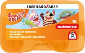 Schmidt Spiele 10 Wachskreiden, dreiflächig, wasserfest, 83 mm Länge, in Kunstst