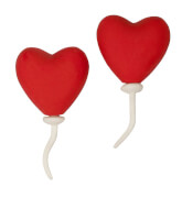 Trendhouse 943620 - Radierer Love is in the air, 2er Set, Radiergummi, ca. 6.3x1.8x7.1 cm, ab 3 Jahren