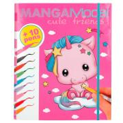Depesche 8766 MANGAModel Cute Friends Kreativ-Mappe, Malblock & Stifteset