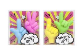 Trendhouse 944306 - Radierer Talking Hands Radiertop, 2er Set, Radiergummi, ca. 6.7x2.1x7.5 cm, ab 3 Jahren