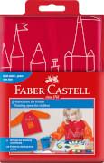Malschürze für Kinder Farbe rot/orange