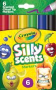 Crayola Silly Scents 6 Chisel Tip Filzstifte