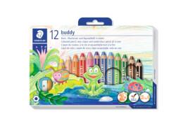 STAEDLER 12er-Pack Buntstifte ''Buddy'' inkl. Anspitzer