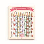 Bleistifte: 10 Aiko mini coloured pencils