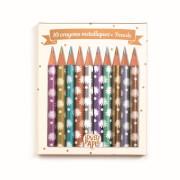 Schreibstifte : 10 Chic mini metalic pencils
