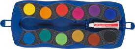 Faber-Castell Farbkasten Connector 12 Farben blau Faber-Castell