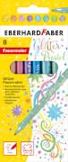 Eberhard Faber Glitter Fasermaler Pastell 8er Etui
