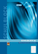 Stylex Schulblock DIN A4 50 Blatt liniert, gelocht, holzfrei