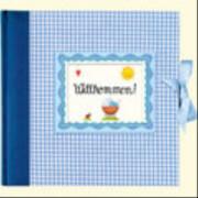 Großes Fotoalbum  Willkommen! , hellblau