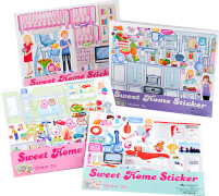 Depesche 7834 Sweet Home Sticker - klein - für das Stickerhaus