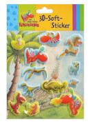 Der kleine Drache Kokosnuss 3D-Soft-Sticker