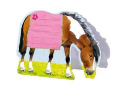 Notizblock zum Aufstellen Pferdefreunde,