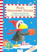 Der kleine Rabe Socke - Alles Verschenke-Stickerbuch, 60 Aufkleber, 12 Seiten, ab 3 Monaten