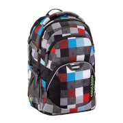 Coocazoo Schulrucksack JobJobber 2, Checkered Bolts Red