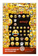 emoji® Sticker-Set mit 4 Papierstickerbögen und einem Pop-Up-Stickerbogen