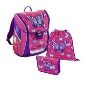 Baggymax Schultaschen-Set Fabby Butterfly, 3-teilig