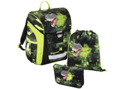 Baggymax Schulranzen-Set Trikky Dino, 3-teilig