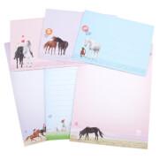 Depesche 6566 Miss Melody Briefpapier in Fächermappe, Motiv 1 pink