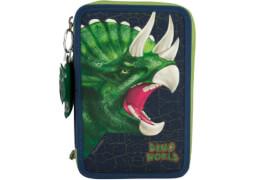 Depesche 8582 Dino World 3-fach Federtasche  mit Soundanhänger
