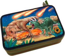 Depesche 8583 Dino World 3-fach Federtasche  LED