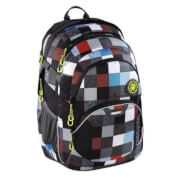 Coocazoo Schulrucksack JobJobber 2, Checkmate Blue Red