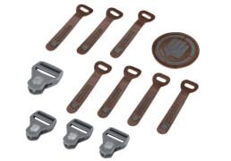 Coocazoo MatchPatch Leather, Grey Melange, 12-teilig