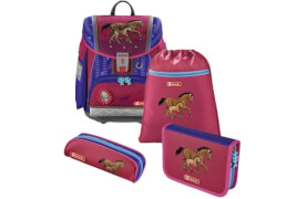 Step by Step Schulranzen-Set Touch 2 Lucky Horses, 4-teilig