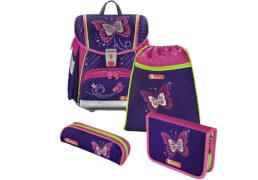 Step by Step Schulranzen-Set Touch 2 Shiny Butterfly, 4-teilig