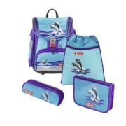 Step by Step Schulranzen-Set Touch 2 Happy Dolphins, 4-teilig