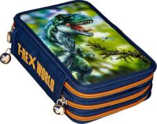 3-fach Federmäppchen  T-Rex World