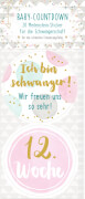 Meilenstein-Sticker Baby-Countdown (Schw