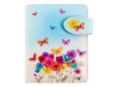 Geldbörse Schmetterlinge hellblau