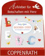 Thekenaufsteller Stickerbuch Buchstaben-Sticker BabyGlück (10 Ex.)