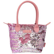 Depesche 10210 Trend LOVE Handtasche Paillette mauve
