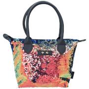Depesche 10211 Trend LOVE Handtasche Paillette dunkelblau
