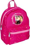 Kindergartenrucksack Pferdefreunde  pink mit Glitzer