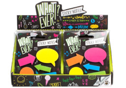 Trendhouse - WHAT EVER!? STICKY NOTES, 2-fach sortiert, Schreibwaren, ab 3 Jahren (nicht frei wählbar)