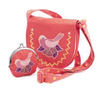 Rollenspiel : Bestickte Tasche mit Vogel Geldbeutel
