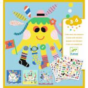 Sticker 3-6: Stickerbilder Meerestiere
