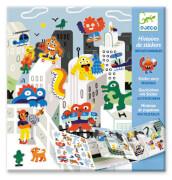 Geschichten mit Sticker: Invasion der Monster