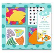 Sticker: Ich liebe Fische