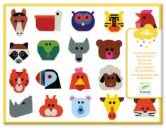 Sticker: Lustige Tierköpfe