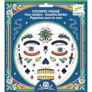Gesichtssticker: Skull