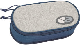 Etui Box YZEA BOX mit Zirkelfach STEEL grau/dunkelblau