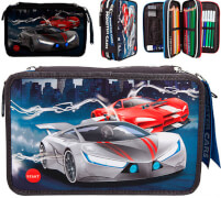 Monster Cars 3-Fach Federtasche LED