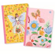 DinA6+ Notizbücher: Rose