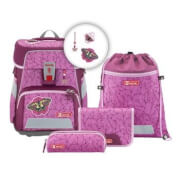 Step by Step SPACE Schulranzen-Set Natural Butterfly, 5-teilig