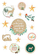 Glanzbilder Oblaten: Weihnachtswunder  6 x 6 Exemplare
